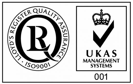 ISO 9001 and UKAS Mark Large